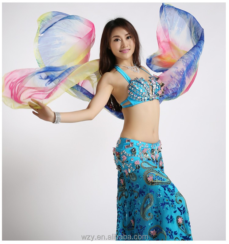 Gradient Tie-dyed Silk Belly Dance Veils