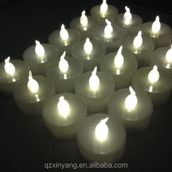 Christmas outdoor decoration white tea candels