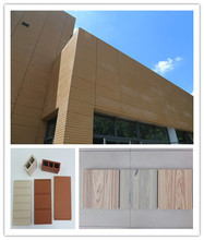 A grade terracotta facade stick acustic wall panel wall cladding ventilated terracotta tiles