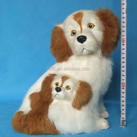 mini furry lucky dog toy with bobble head dog