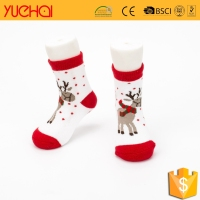 Wholesale custom warm asian boy and kid white sock ; child and children winter sock ; Christmas kids baby sock