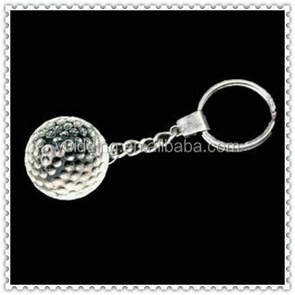 Wholesale Crystal Golf Ball Keychain For Sports Gifts