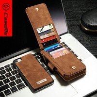 Magnetic Flip Leather Case Top Grade leather case for Iphone 7,100% Fit For iphone 7 leather wallet case, wallet phone case