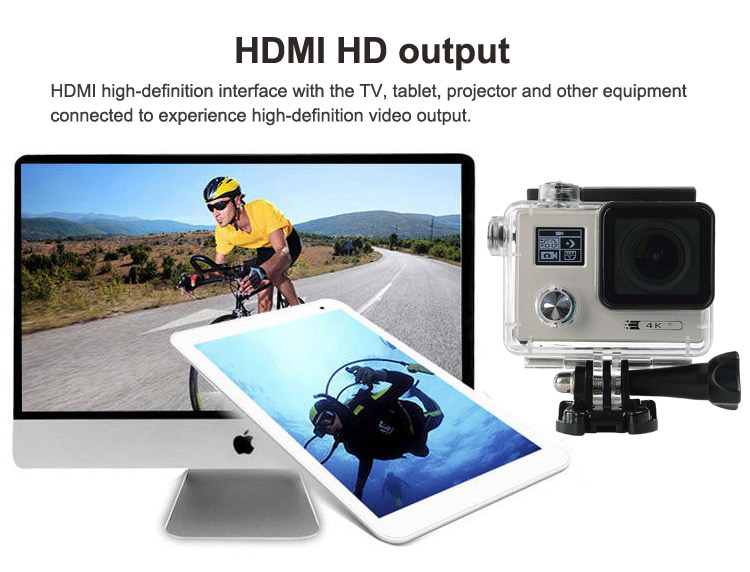 New release 2 inch waterproof 4k hd action camera be unique