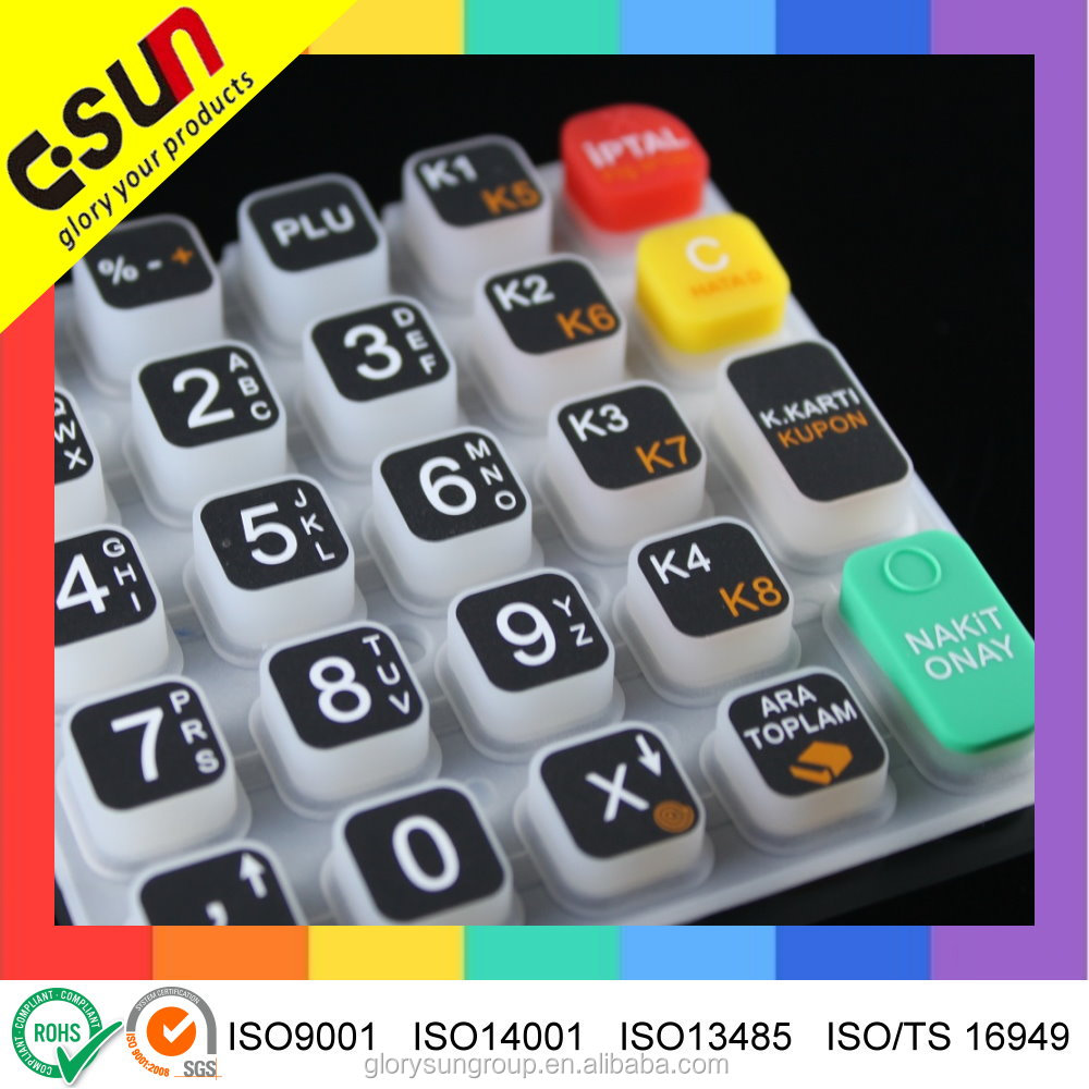 High-tech customized Good Conductive Silicone Keypads Keyboards