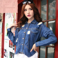 DJ213068 jean jacket 2014 wholesale denim jacket apparel