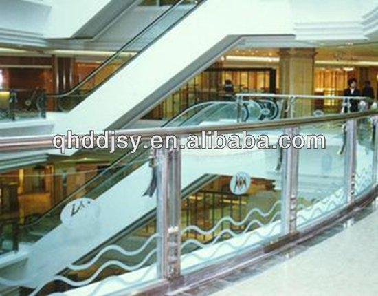 indoor glass railing/glass handrail/tempered laminated glass