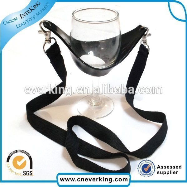 Hoting selling silicone bottle holder lanyards