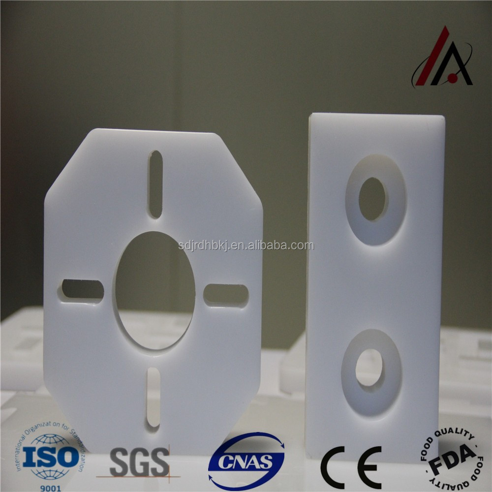 CNC customized machined UHMW polyethylene engineering plastic parts
