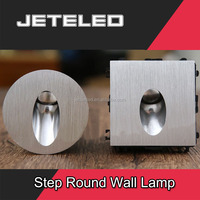 Super Mini Square & Round stair Step recessed wall lamp 3w led wall light