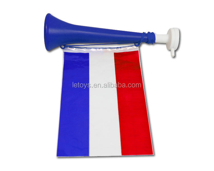 2018 World Cup sports fans plastic French horn with national flag/World Cup hot sale vuvuzela