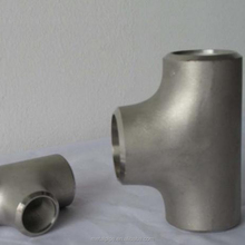 Butt-welding Pipe Fittings reducing steel Tee ASME B16.9 super duplex alloy s31803 3 way tube connector