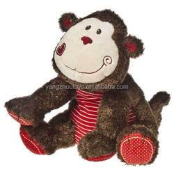 good quality colorful monkey plush toy coloured monkey plush toy
