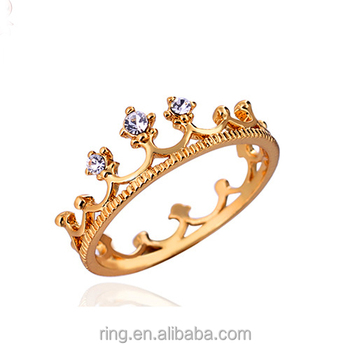Cheap wholesale jewelry gold crown ring for women
