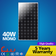 Factory rice high efficiency 40W solar panel 100W with CCC CE RoHS TUV