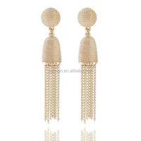 Summer New Gold/Silver Plated women's Fashion long Tassel Earrings NY43