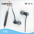 Mini Earbuds Factory 3.5mm Round Cable Metal Good Sound Wenda L11
