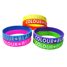 Colorful fittness design customized size promotional silicone band
