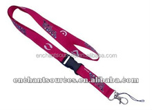 Woven printing cell phone lanyard