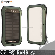 Solar Power Bank 10000mAh Portable Solar Charger Dual USB Battery Bank with Emergency lights for outdoor activities