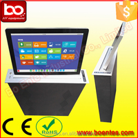 Wholesale Pop Up Desktop LCD Monitor Lift Mechanism with 15.6 HD Screen for Conference Interactive System
