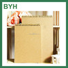 2017 hard cover Spiral Kraft paper business Note book