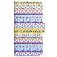 Colorful Tribe Pattern Wallet PU Leather Case Flip Cover for HTC Desire 820 Mini D820mu