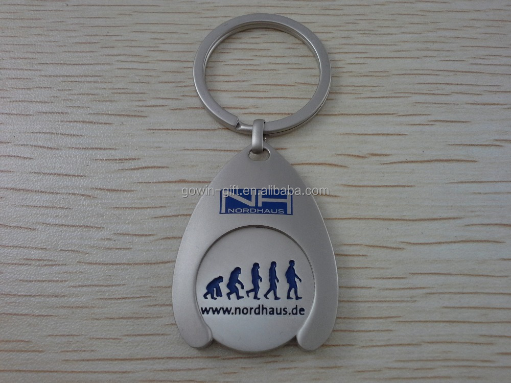 Promotion metal trolley coin keyrings , cheaper trolly coin, coin holder keychains