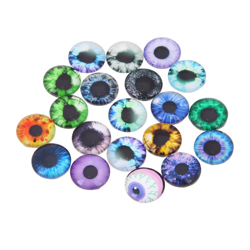 20pcs/set 10mm /16mm /20mm Glass Doll <strong>Eye</strong> DIY Crafts for Toy Dinosaur Animal <strong>Eye</strong> Time Gem Accessories for Dolls