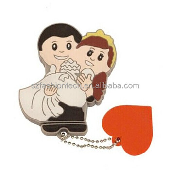PVC custom wedding gift USB flash drive novelty usb wedding favors and gifts