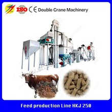 Formula available cattle, poultry, livestock feed production line with automatic packing system