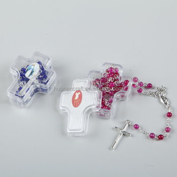 Huanan wholesale plastic red rosary box