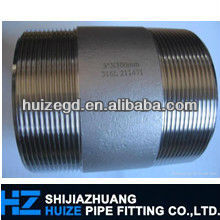 astm a105 seamless pipe nipples one end threaded