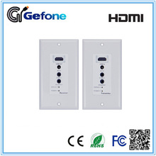 Factory HDMI VGA Extender Wall Plate 50M-60M by cat5e/6 with Bi-direction IR