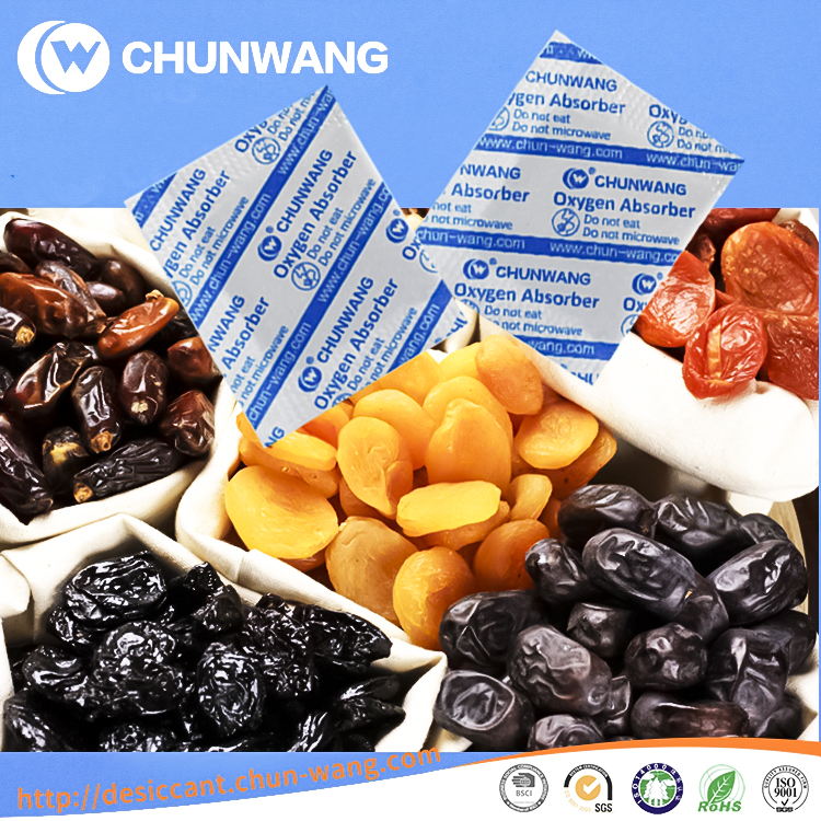 China Supplier Dried Fruit Packaging Oxygen Absorber For Food
