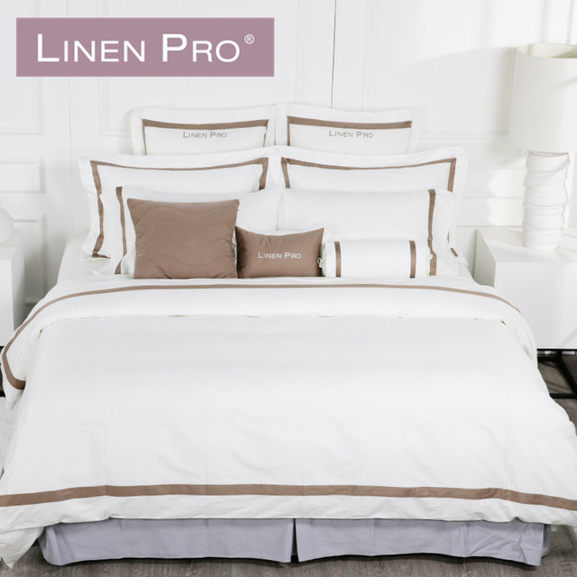 Linen Pro ELIYA Full Size Top Quality Pure Cotton Hotel Linen Bed Sheet