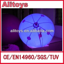 self inflating helium auto inflatable balloon /LED balloon large helium balloons