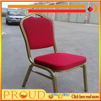 0.8mm Thickness Steel Tubes Red Colour Hotel Chair Hotel Funiture