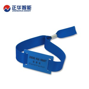 customized NTAG213 wristbands fabric wristbands tag for entry system
