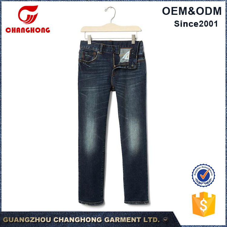 Simple Blue Jeans Kids 2017 wholesale Kids Jeans from China Factory