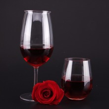 CE New product Plastic colored glass Goblet wine glass