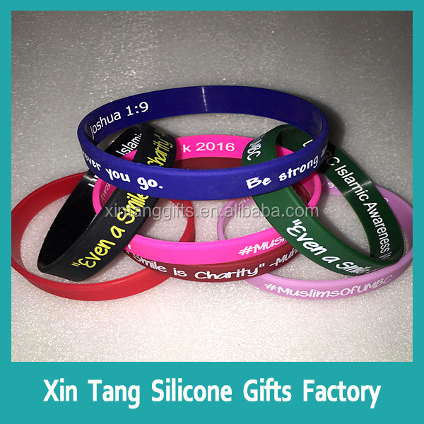 Hot sale silicone bracelet