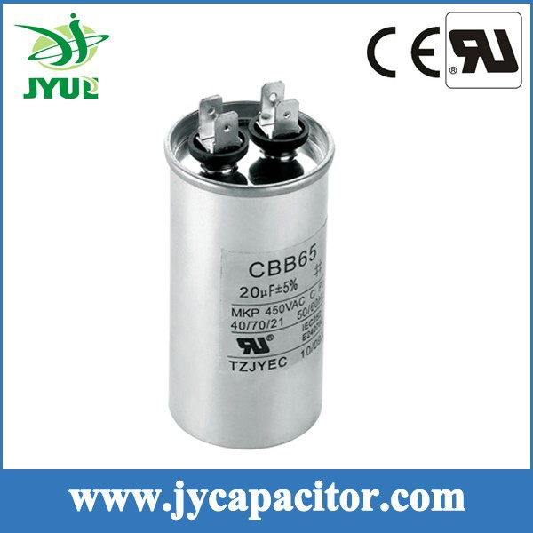 cbb65 air conditioning capacitor electric capacitor aluminum housing