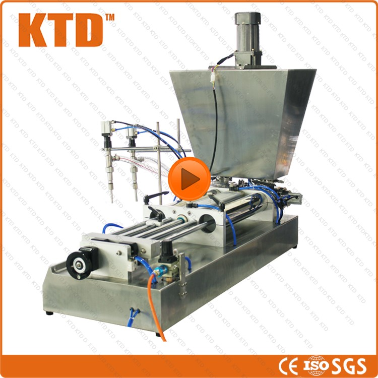 CE ISO Certificate 50--500ml semi automatic double nozzles light soy sauce filling machine