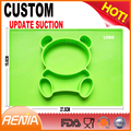 RENJIA custom stronger suction mini baby one-piece dinner plates silicone placemat for kids