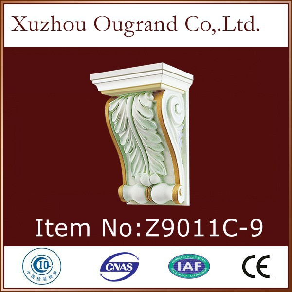 high quality of pu cherry carved wood corbels for house decor
