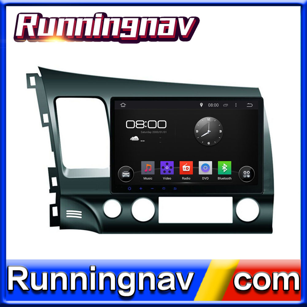 car navigation FOR Honda Civic 2006-2011 (left hand drive) WITH A9 CHIPSET QUAD CORE 1080P WIFI 3G INTERNET DVR