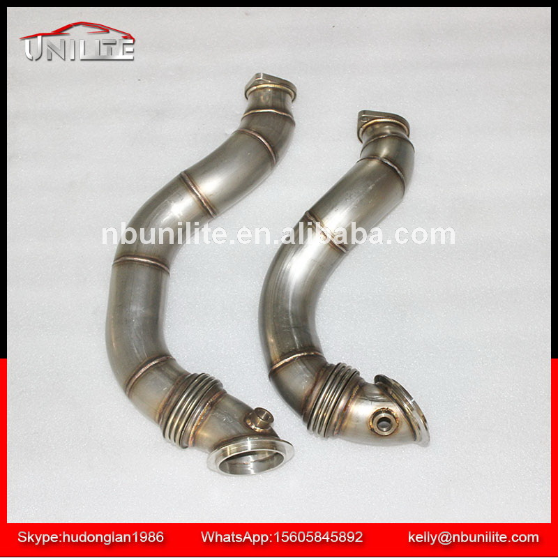 "SS304 Downpipe for B*MW 335i 135i N54 DECAT DOWNPIPE with flexible pipe EXHAUST 3"" STAINLESS STEEL 07-10"