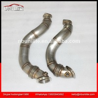 SS304 Downpipe for B*MW 335i 135i N54 DECAT DOWNPIPE with flexible pipe EXHAUST 3