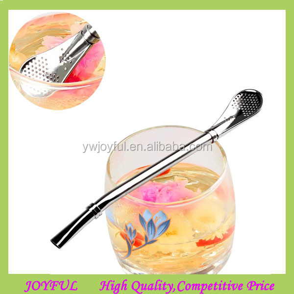 Stainless Steel Yerba Mate Tea Bombilla Straw Coffee Stirrer Drinking Straw